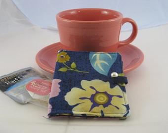 Blue Floral Tea Wallet
