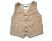 Tweed Vest, Boys Tweed Vest, Rustic, Toddler Vest, Infant Vest, Tweed Waistcoat, Tan Vest, Ring Bearer Vest, Thanksgiving Baby, Baby Boy