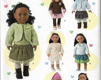 "New SimplicityPattern #1515 for18"" Doll Wardrobe Uncut Factory Folded"