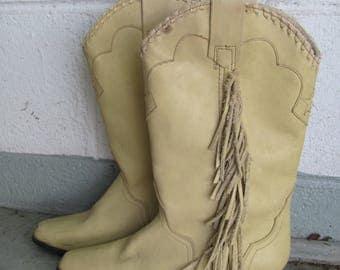 Vintage ACME Fringe Cowgirl boots Size 6