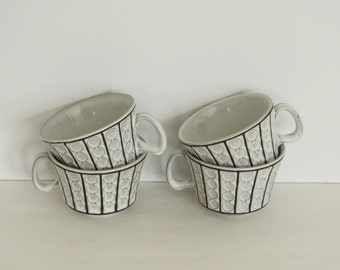 Mid Century Modern Ceramano German Made Pottery Cups