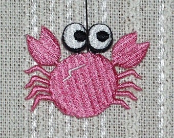"Iron on Applique Set of 4 Pink Crabs 2 "" x 1.5""  Super Cute   Ships Free Inside US"