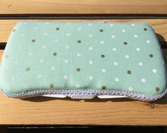 Baby Wipes Case, Wipes Case, Travel Wipes Case, Polka Dot Wipes Case,