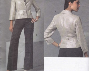 "Vogue American Designer Anne Klein Suit Jacket Pant pattern Uncut size 14, 16, 18. Bust 36"" to 40"""