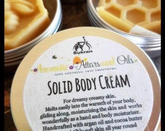 Lotion Bar Solid Body Cream with Argan Oil for Dreamy Creamy Skin ~35g (1.25oz)