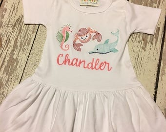 girls beach dress, baby beach dress, beach dress, beach animals dress, girls beach party, baby beach party, girls swimsuit coverup dress