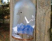 ALL CLEAR GREYGOOSE bottle wind chime eco friendly, blue centers, garden decor, wind chimes, mobiles, musical, windchimes