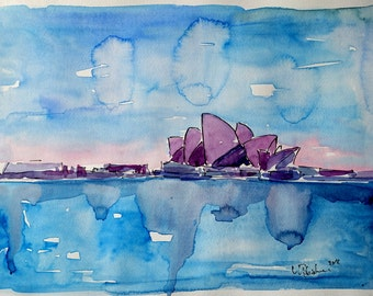 Wonder from Downunder: Sydney Skyline with Opera House at Dusk - Limited Edition Fine Art Print