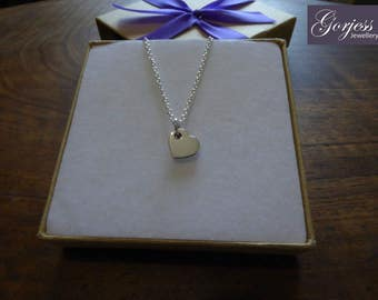 Silver Handmade Heart Charm 1.2mm