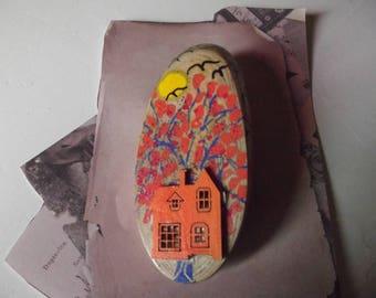 the orange house brooch