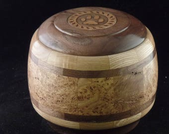Black Ash Burl Pet Urn # 1043-52
