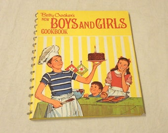 Vintage Betty Crocker's Boys & Girls Cookbook Recipes 1970