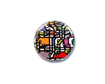 1 Inch Pinback Button Original - Rainbow Circuit