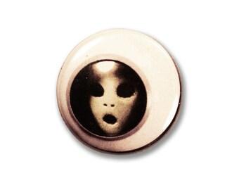 1 Inch Pinback Button Original - The Ghostronaut