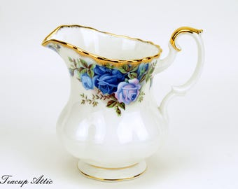 Royal Albert Large Moonlight Rose Replacement Creamer, English Bone China Creamer, ca. 1987