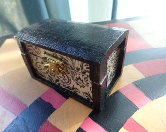 Black and White Spell Box.  Charm Box.  Trinket Box.  Black Friday. Cyber Monday. Sale Discount. 20% Off