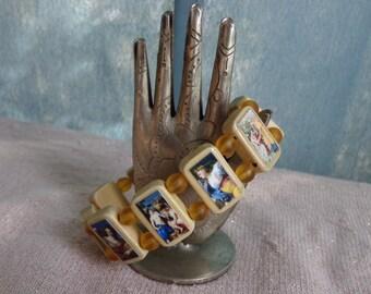 Demeter Wooden Devotional Bracelet. Pagan Devotional Jewerly.