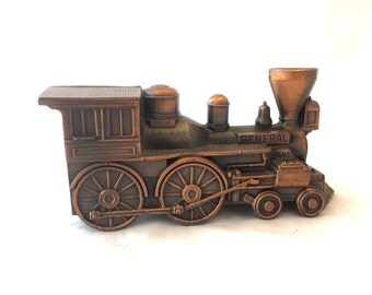 Banthrico Inc. Bronze General Train Bank, Train Collector Penny Bank