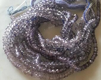 Tanzanite Mystic Quartz Rondelles Purple Blue