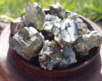 3 Pyrite Cube Clusters