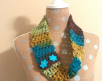 Girls 2 in 1 Scarf