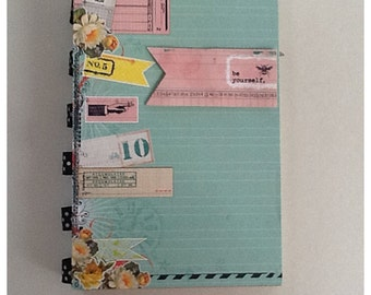 Be Yourself Pre Made Chipboard Scrapbook Journal Album * Just Add Photos *