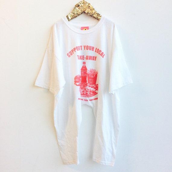 RUN 3-4 Years Kids Childrens Onesie Onepiece Bodysuit Playsuit T Shirt Suit Upcycled Cotton Unisex