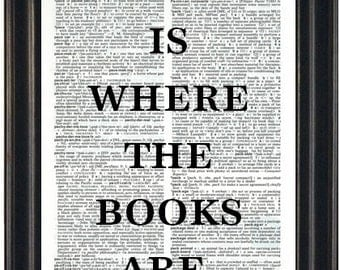 Book Lovers Gift Book Quote Print Literary Print