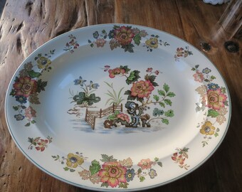 Wedgewood 'Eastern flowers' large serving platter/turkey plate