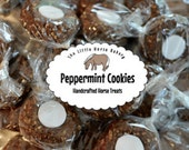 Shipping Included - Peppermint Cookie Horse Treats - A Baker's Dozen - 13 Cookies