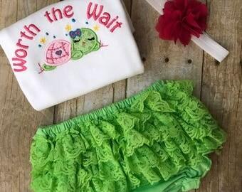 Turtle Baby Shower Gift- Turtle baby onesie