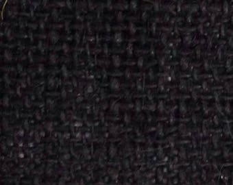 Black Burlap 100% Cotton Fabric