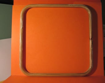 "1 Pair Square 9"" Tan Swirl color Marbella Plastic Hoop / Ring / Craft Project Supply"