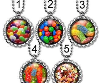 Kids Tween Teen Party Favor Ball Chain Assorted Candy Necklace Birthday Party Zipper Pull Candy Bookmark