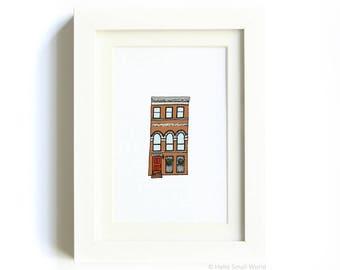 New York Architecture Print No. 9 - NYC Art, Architecture Print