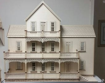 Scale One Inch, Southern Comfort Wooden Dollhouse Kit, 1:12 Scale