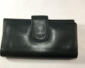 Vintage Black  Leather Rolfs Wallet Womans Billfold
