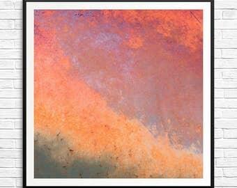Large Rust Abstract Art Huge Abstract Print Large Horizontal