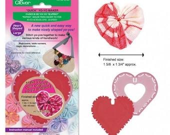 Quick Yo-yo Maker Heart Shaped (large) - Clover 8705