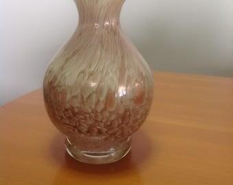 Vintage Venetian glass art vase from maestri vetrai