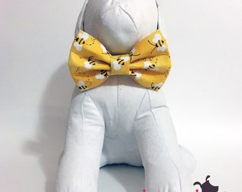 Yellow Bumble Bee Summer Bow Tie