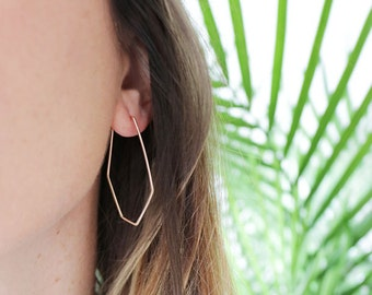 constellation hoops | gold-filled geometric earrings