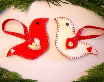 Scandinavian Christmas Decoration Felt Bird Craft Kit For Adults Christmas Tree Decoration DIY Kit DIY Gift