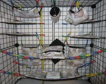 17  Pc  -  Spotted Owl - Sugar Glider Cage Set