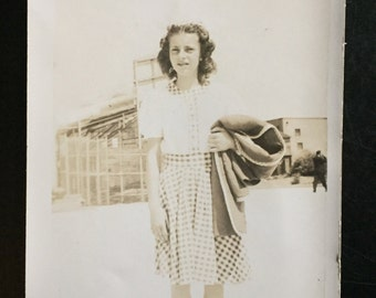 Original Vintage Photograph Anna's Warm Day 1946