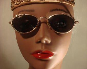 Vintage Silver Frame Non-Prescription Sunglasses