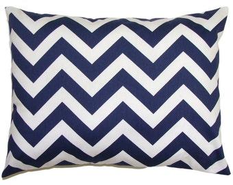 BLUE CHEVRON PILLOW.12x16 or 12x18 inch Decorative Lumbar Pillow Cover.Housewares.Home Decor.Blue Pillow.Blue Cushion Cover.cm.Chevron.Zig