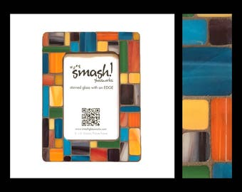Pastiche: Bijou - 4x6 Stained Glass Mosaic Picture Frame