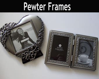 Family Photo Frame, Pewter Picture Frames, Family Pictures, Wedding photo frame, shower gift, wedding gift, pewter frames, picture frames