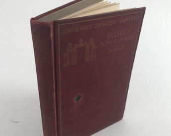Antique Poetry Book - Milton's Minor Poems: L'Allegro, Il Penseroso, Comus, and Lycidas - 1904 - Classic Poetry